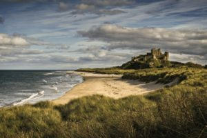 BAMBURGH BEACH & CASTLE