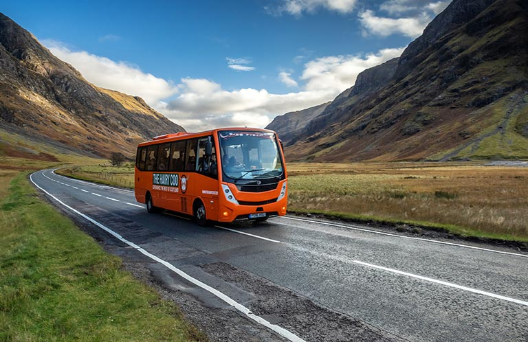 Highlands Hairy Coo Bus