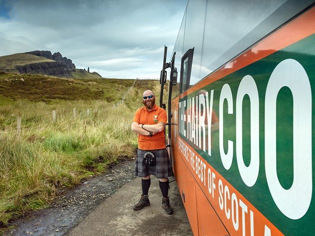 The Hairy Coo scottish driver tour guide