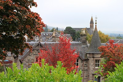A view of Pitlochry by The Hairy Coo tours